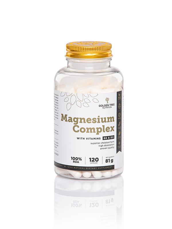 Magnesio naturale con vitamine B6 e D3 - capsule