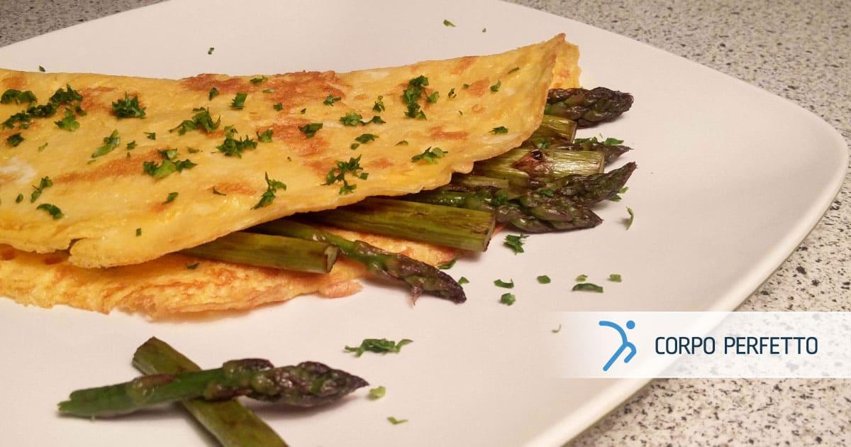Frittata soffice con asparagi
