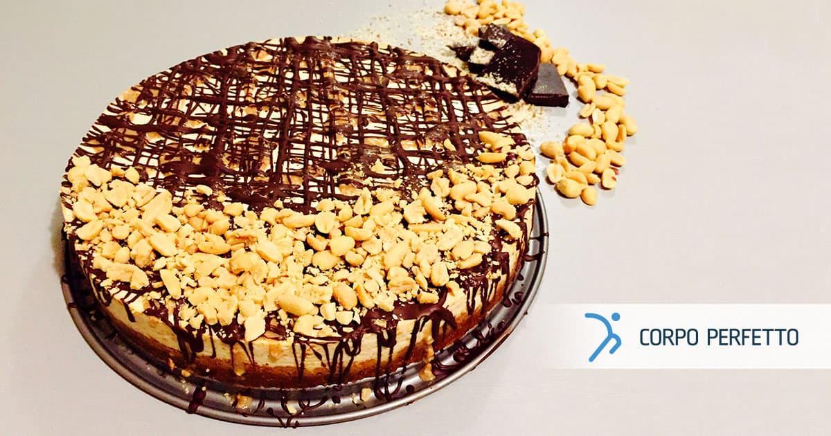 Torta Snickers sana e golosa