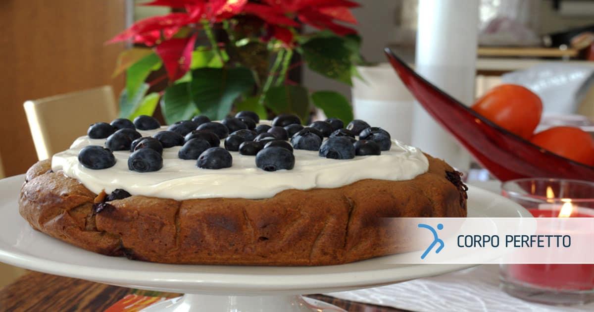 Torta light ai mirtilli