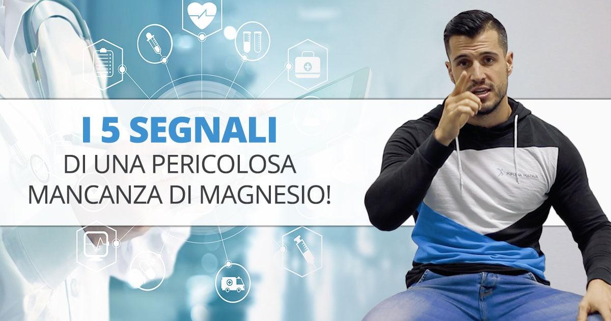 I 5 segnali di una pericolosa mancanza di magnesio!