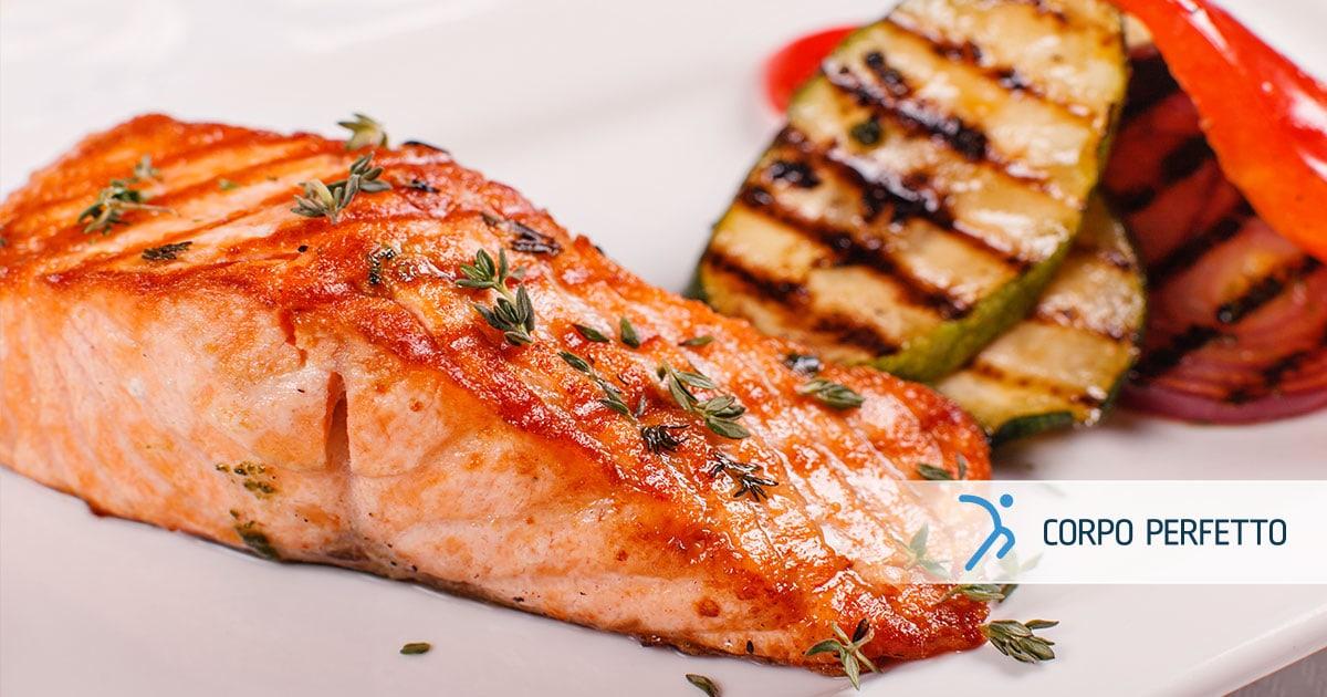 1, 2, 3 – salmone con verdure!