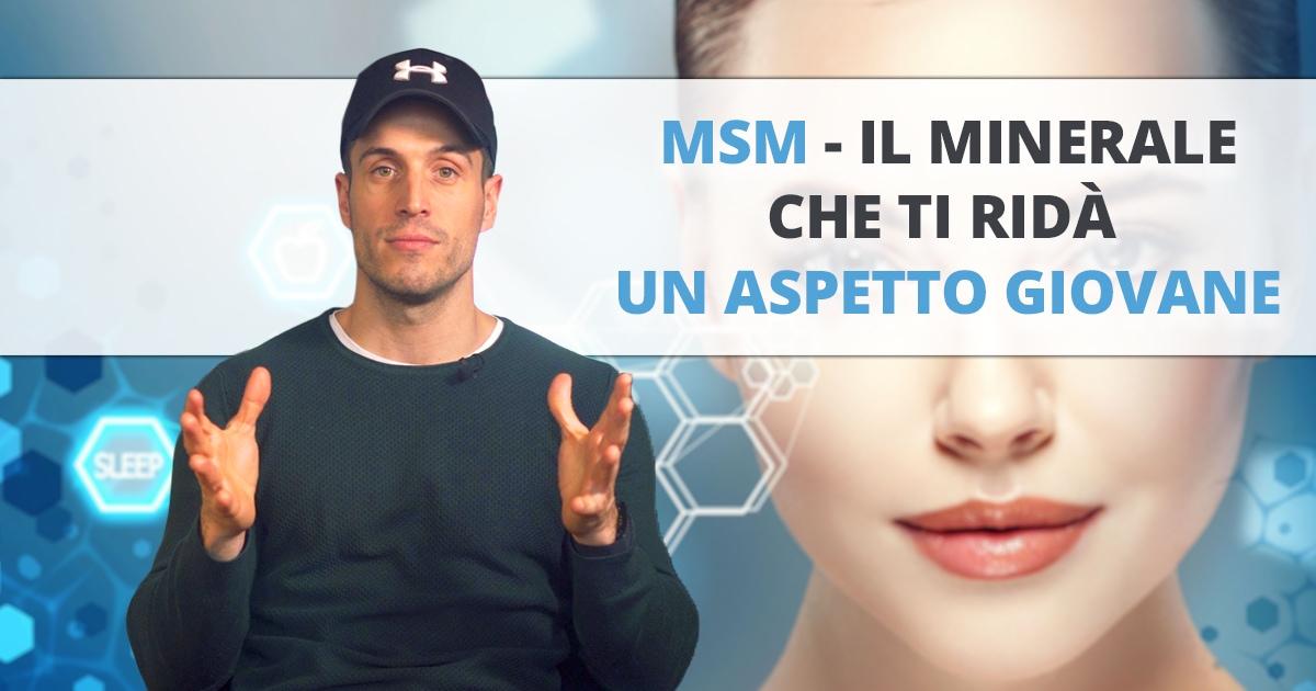 MSM – il minerale per pelle luminosa, capelli folti e articolazioni sane