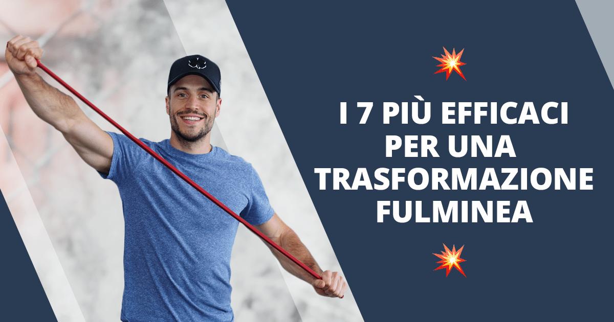 Esercizi con gli elastici – i 7 migliori per una trasformazione fulminea