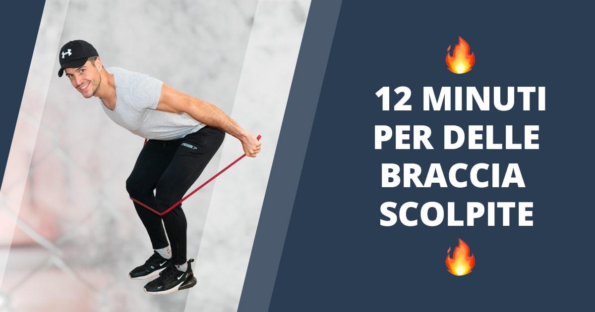 4 esercizi con gli elastici migliori per il tricipite + Allenamento guidato
