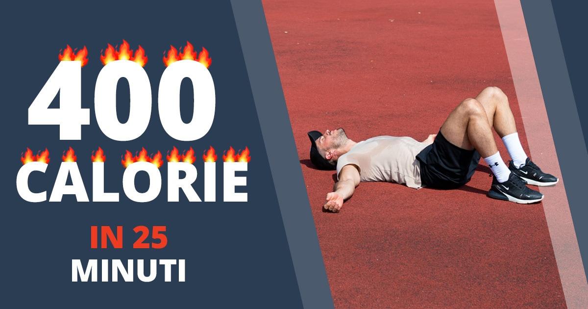 Circuit training – brucia 400 calorie in soli 25 minuti