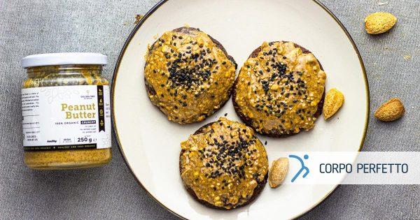 Biscotti alle mandorle con burro di arachidi – senza glutine