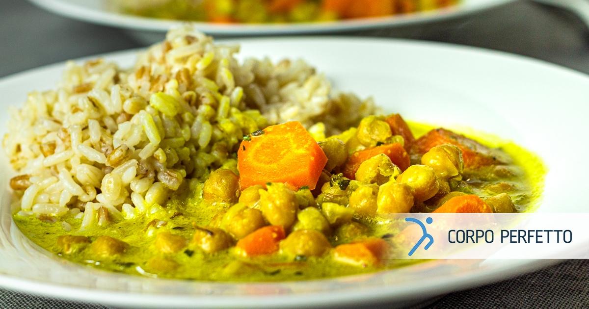 Curry di ceci in padella