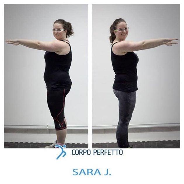 Un cambiamento radicale che ha fatto ottenere a Sara un corpo da sogno