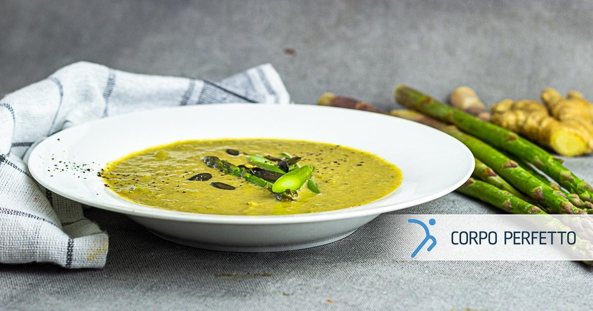 Zuppa di asparagi e zenzero