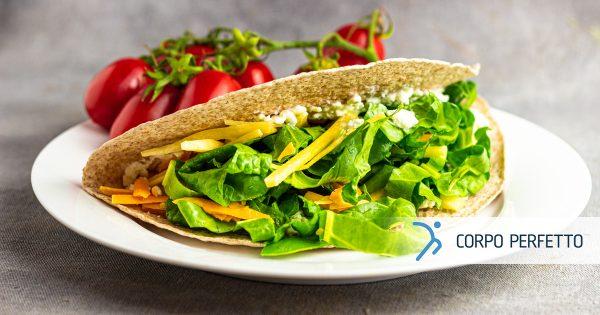 Involtino vegetariano con formaggio e verdure