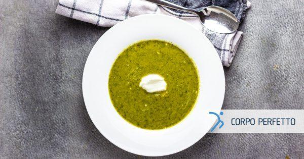 Vellutata di broccoli con panna acida
