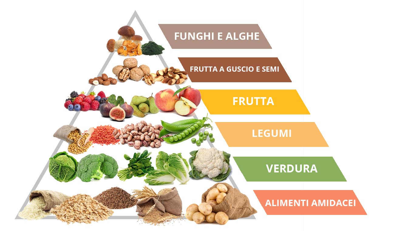 la piramide alimentare vegana