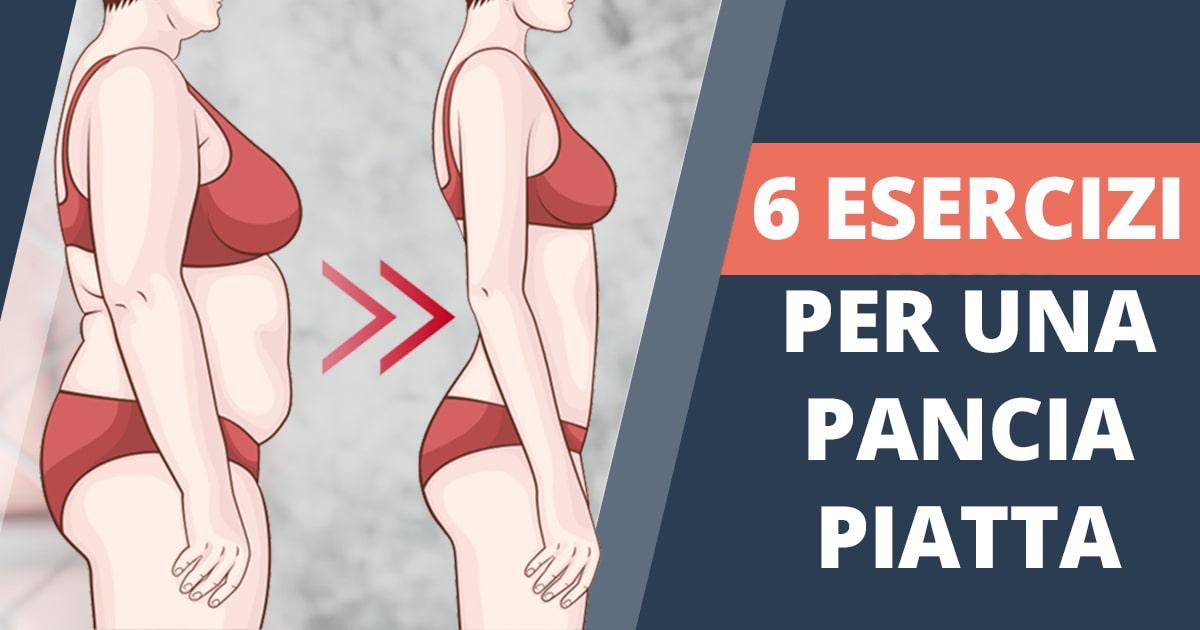 6 semplici esercizi per una pancia piatta